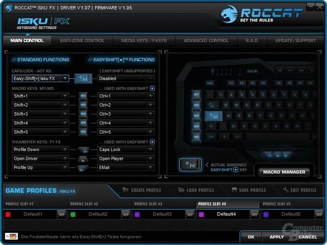 Roccat Isku FX – Software