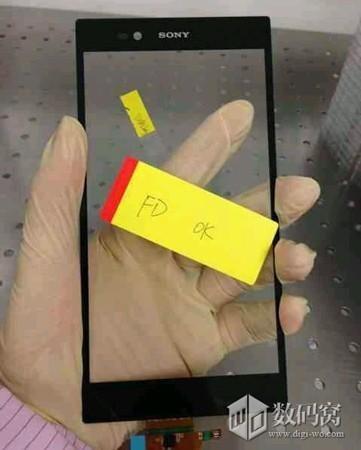 Angebliche Vorderseite eines 6,44-Zoll-Smartphones von Sony