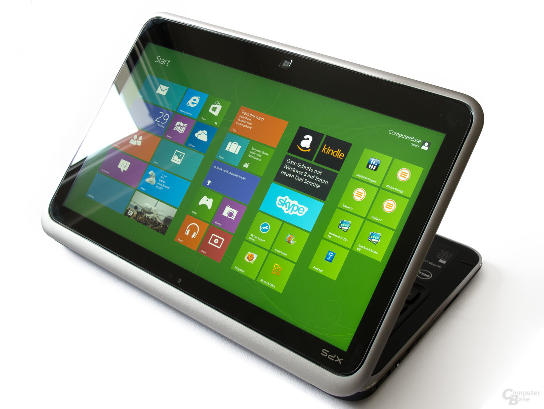 Dell XPS 12 mit umgedrehtem Display