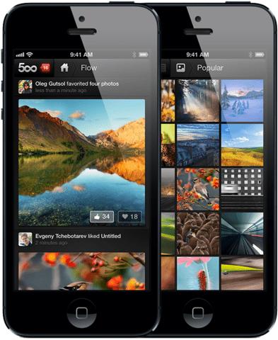 iOS-App von 500px