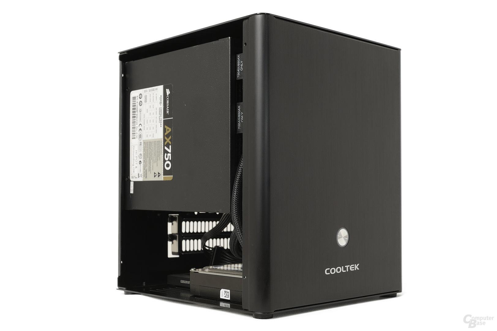 Cooltek Coolcube - Testsystem seitlich