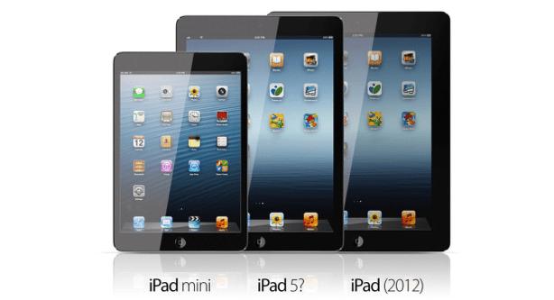 iPad mini-, iPad 5- und iPad-Vergleich