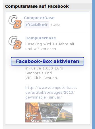 Facebook-Box (deaktiviert)