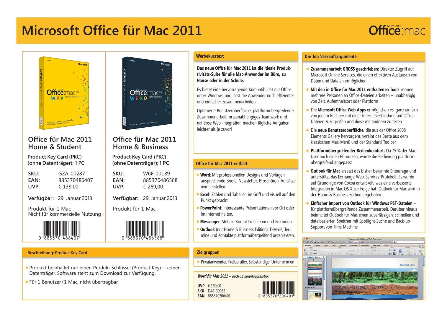 Microsoft Office 2013 Übersicht