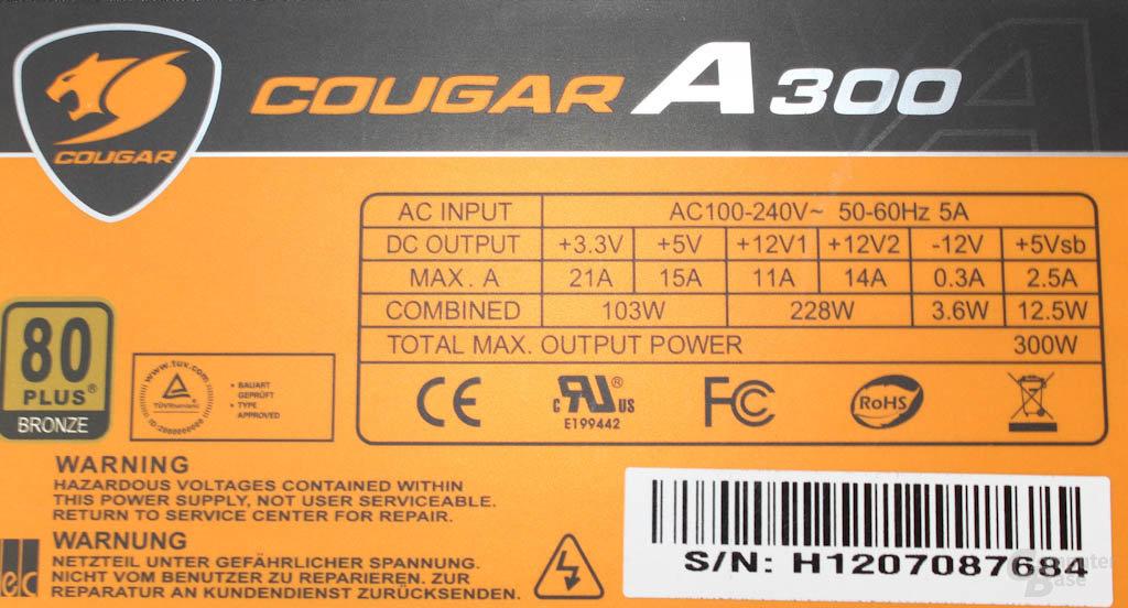 Cougar A300 – Datenblatt