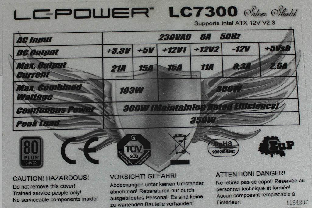 LC-Power Silver Shield – Datenblatt