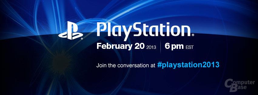 Ankündigung einer PlayStation-Veranstaltung im Februar