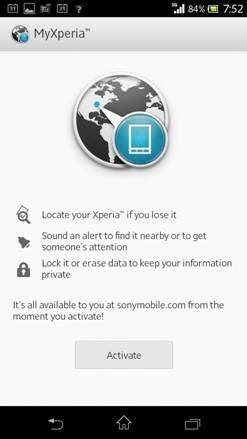 Sony my Xperia