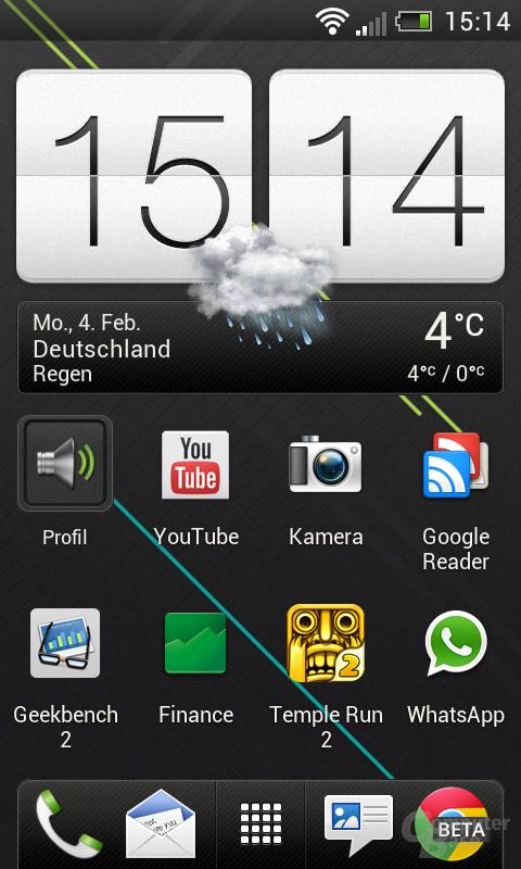 HTC One SV Homescreen