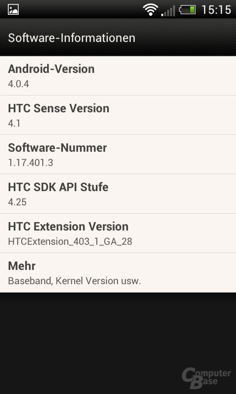 HTC One SV Android-Version