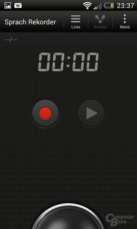 HTC One SV Sprachrekorder