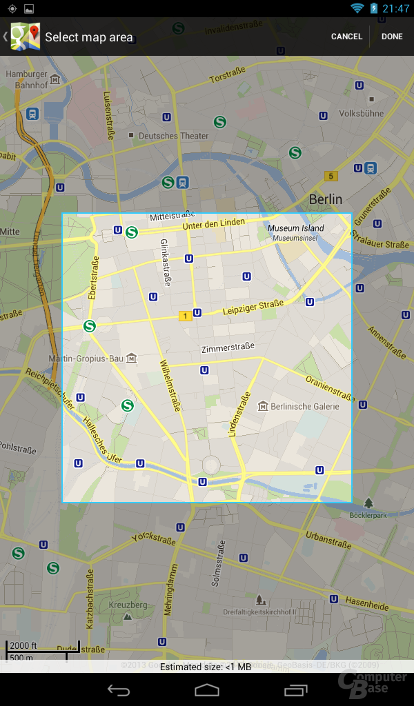 Acer Iconia Tab B1 - Google Maps