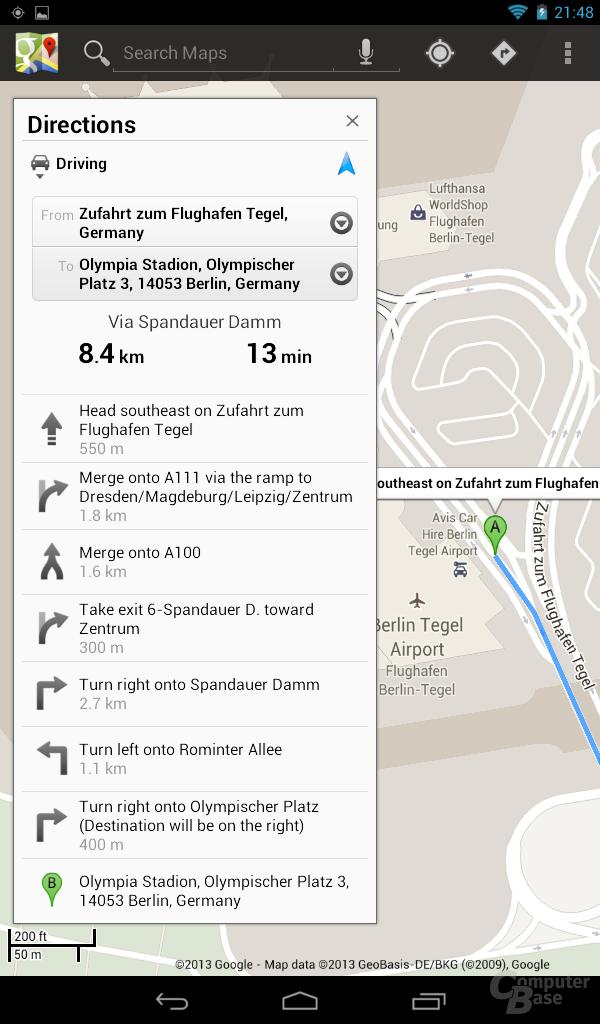 Acer Iconia Tab B1 - Navigation