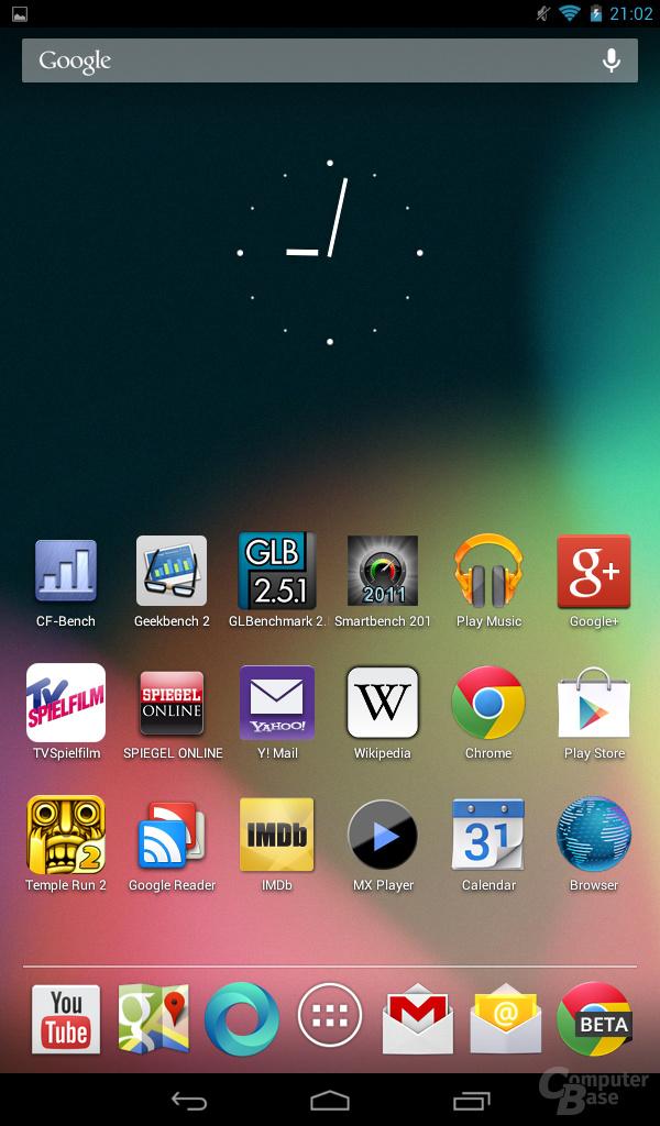 Acer Iconia Tab B1 - Homescreen