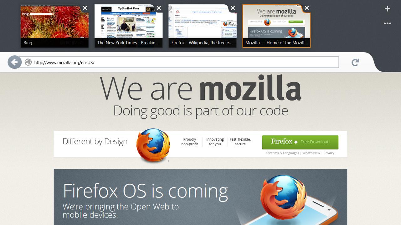 Firefox für Modern-UI