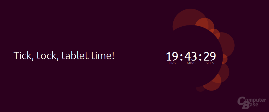 Countdown auf ubuntu.com