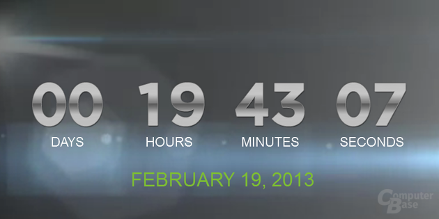 Countdown auf htc.com