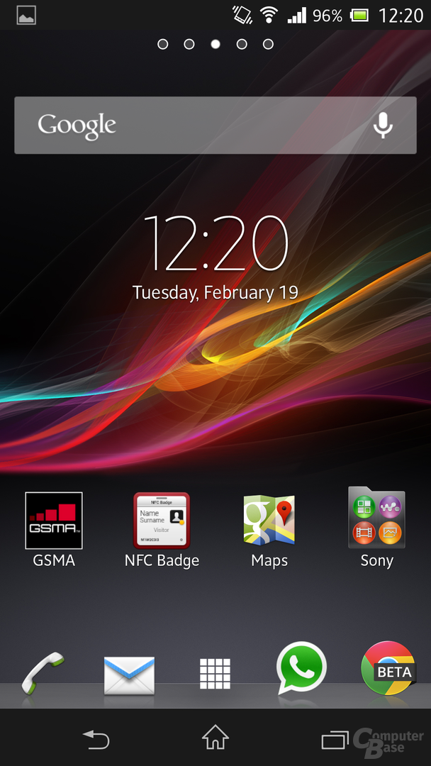 Sony Xperia Z - Homescreen