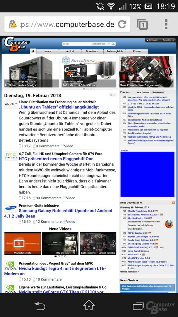 Sony Xperia Z - Google Chrome