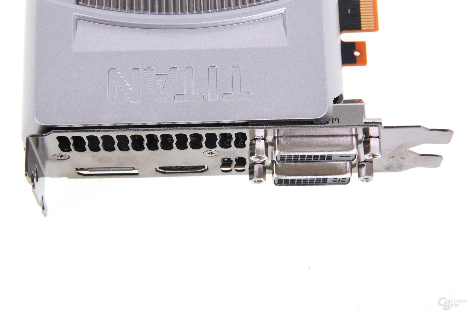 GeForce GTX Titan Anschlüsse