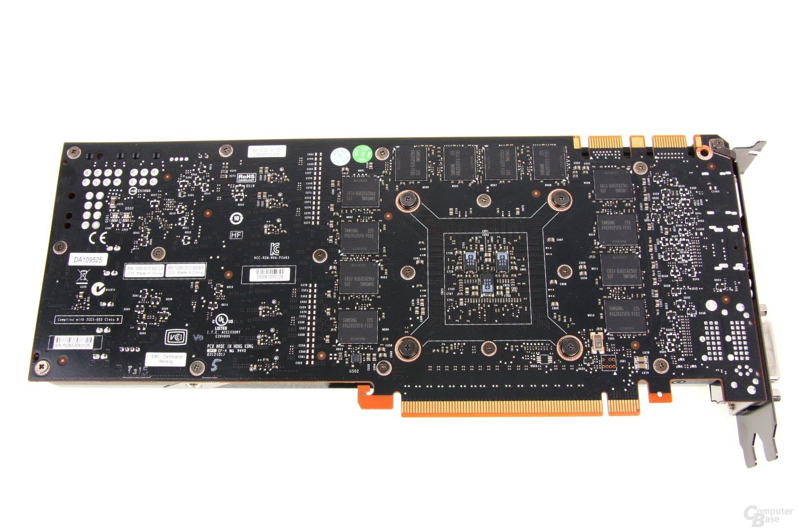 GeForce GTX Titan Rückseite