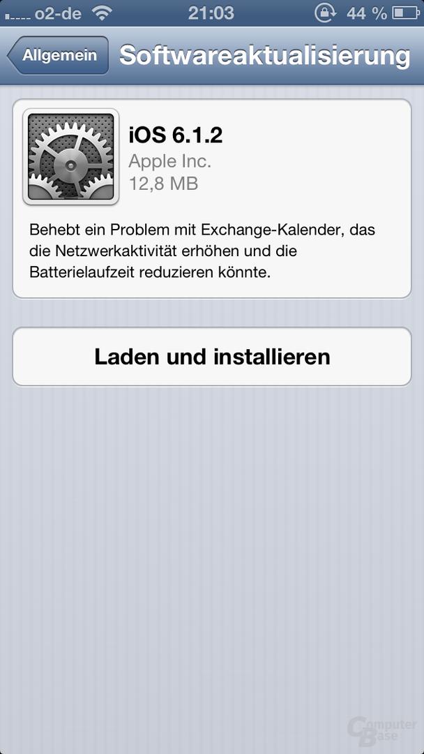 iOS-6.1.2-Update auf dem iPhone 5