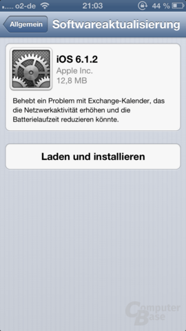 iOS-6.1.2-Update auf dem iPhone 5