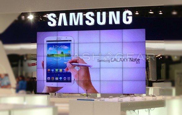 Foto vom Samsung-Stand (MWC 2013)