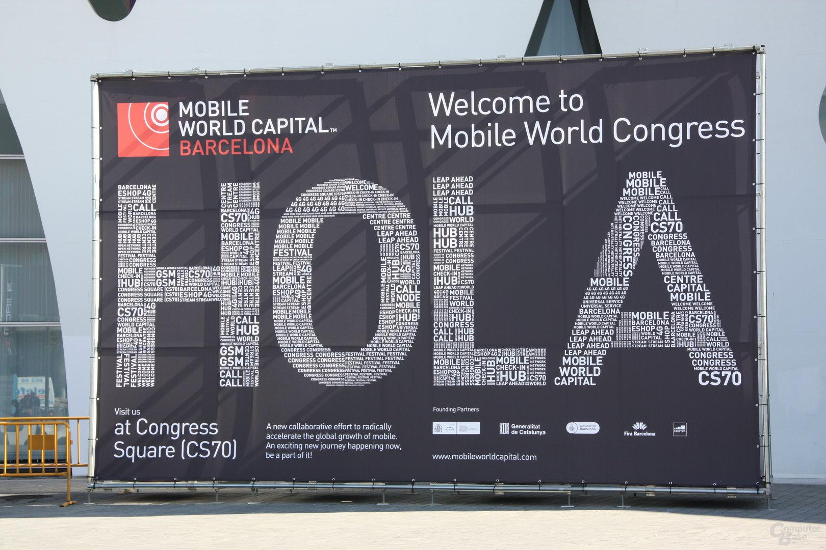 Der MWC 2013 begrüßt seine Besucher