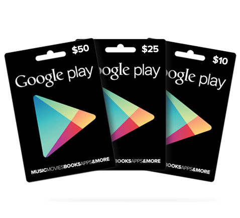 Gutscheinkarten für Google Play
