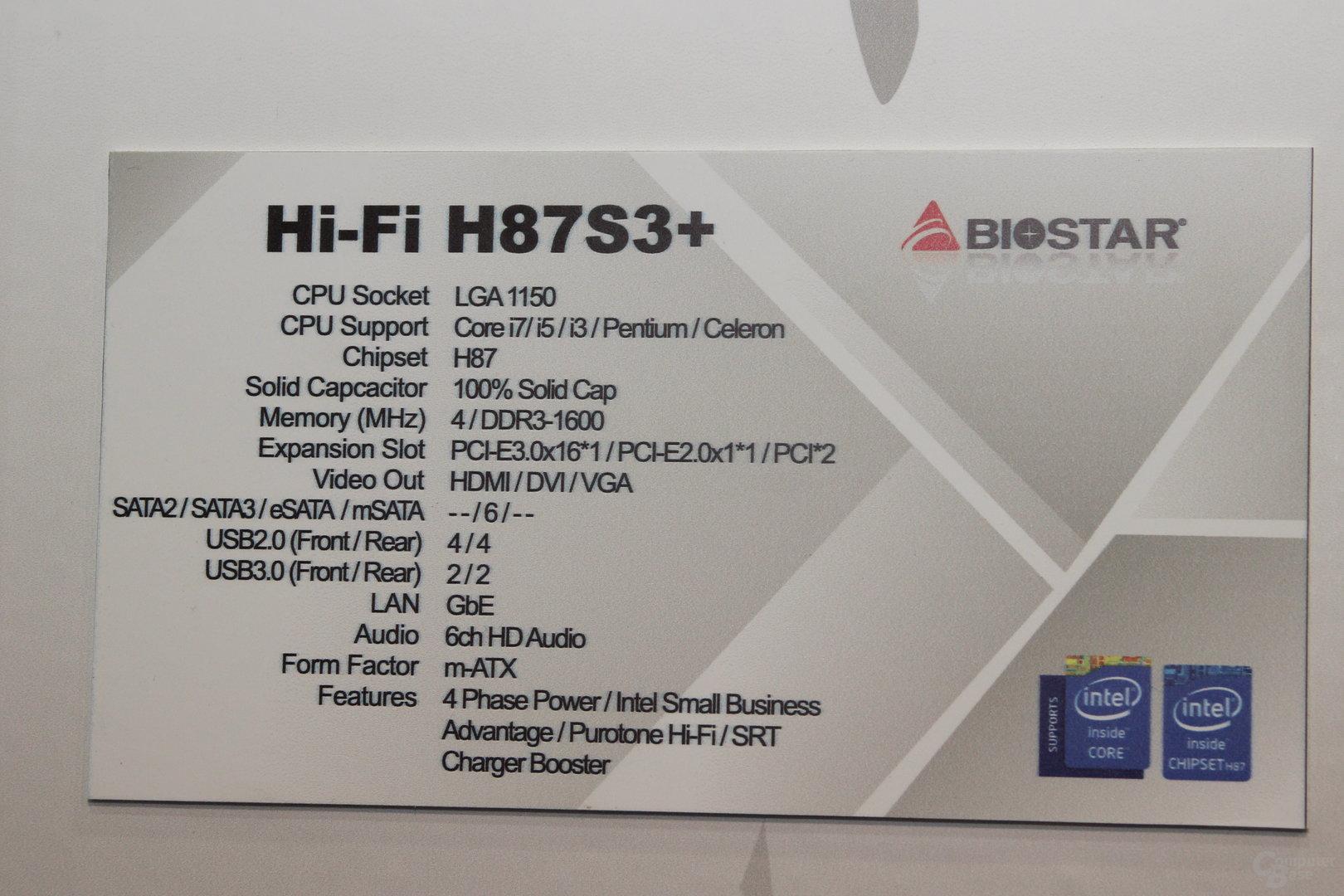 Biostar H87S3+