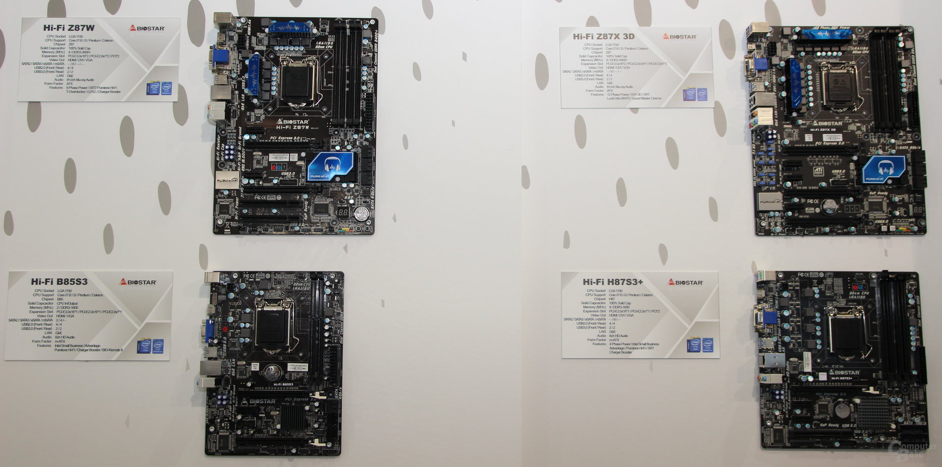 """Vier """"Haswell""""-Mainboards"""
