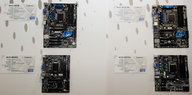 "Vier ""Haswell""-Mainboards"