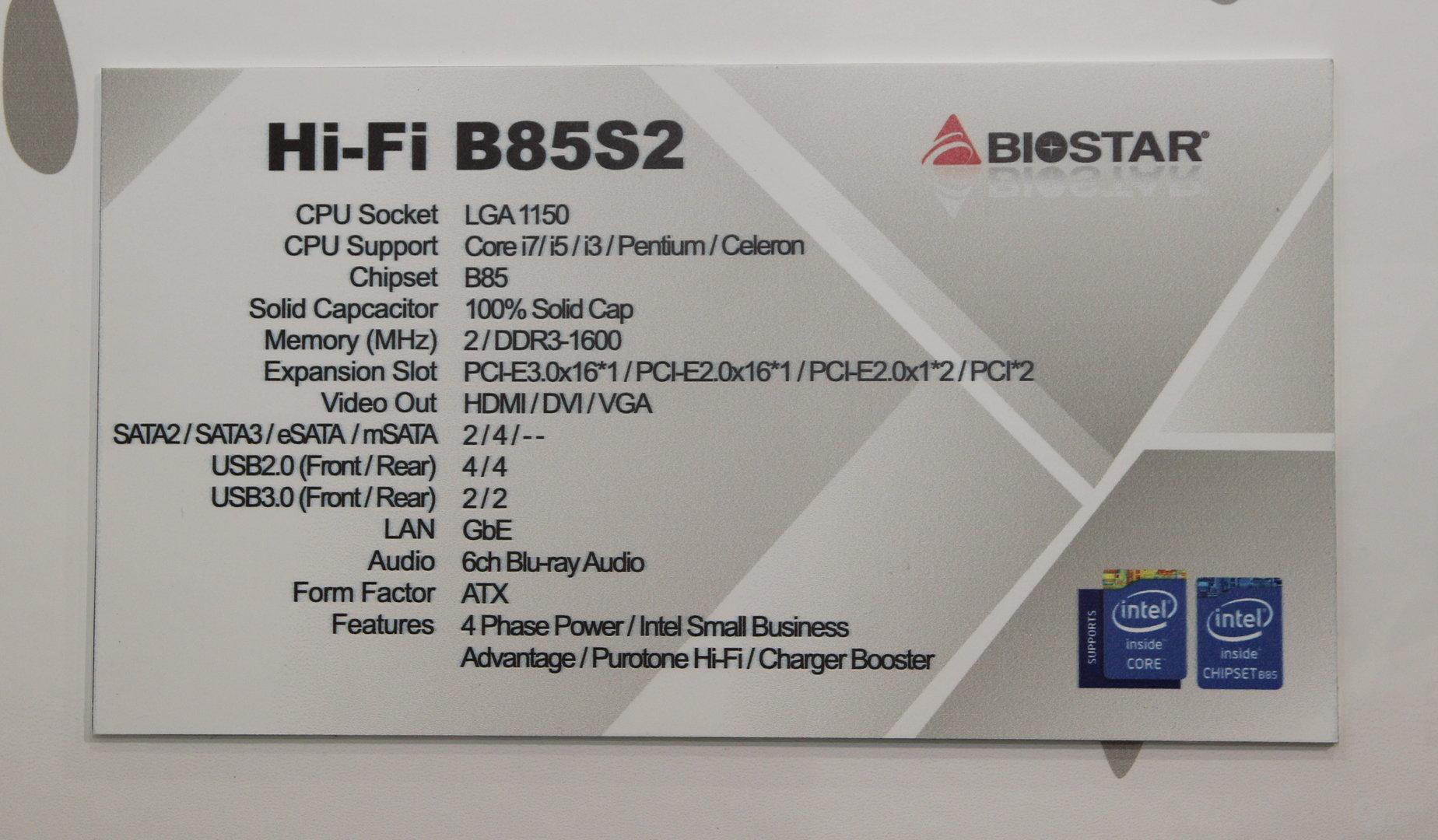 Biostar B85S3