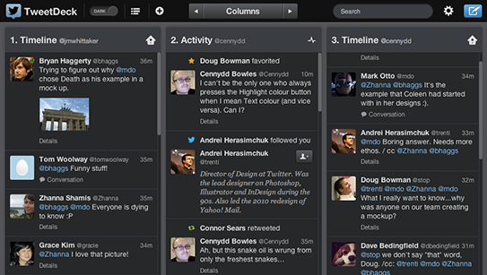 TweetDeck für den Desktop