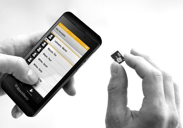 BlackBerry Z10 mit Secusmart Security Card