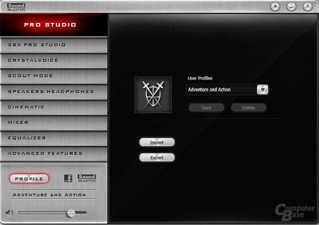 Sound Blaster Z-Series – Systemsteuerung