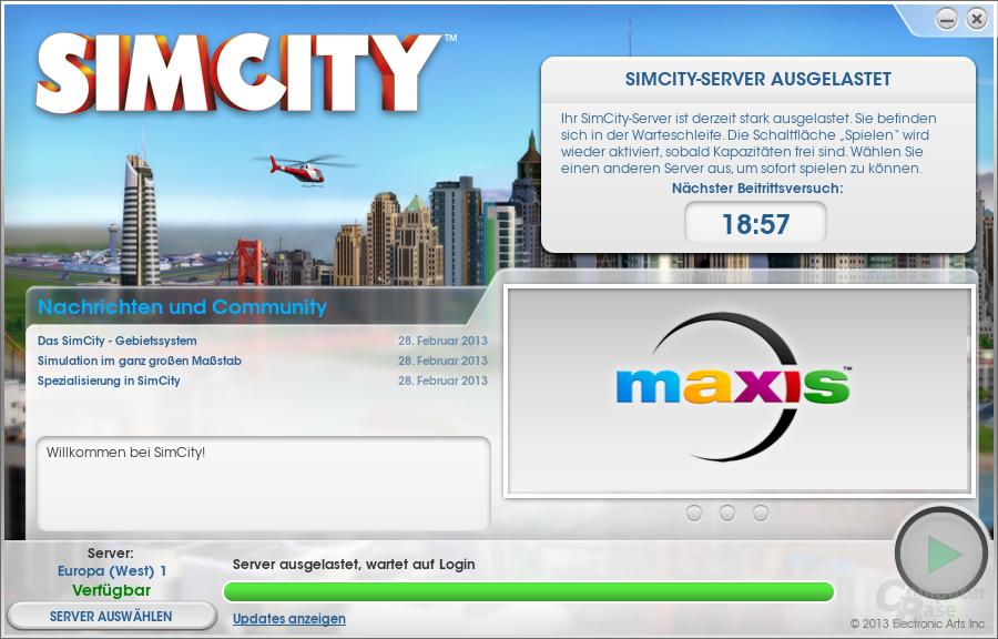 """Warteschlange in """"SimCity"""""""
