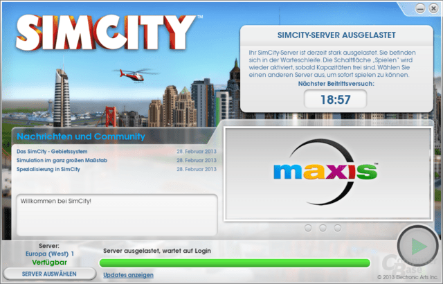 "Warteschlange in ""SimCity"""