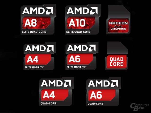 Neue AMD-Logos für die A-Serie