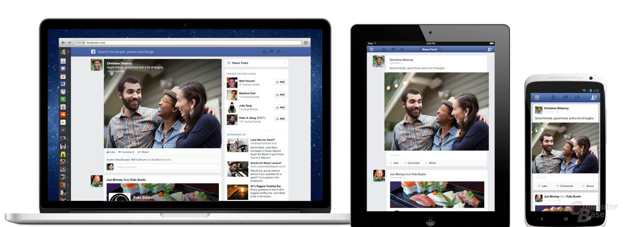 Neues Facebook-Design