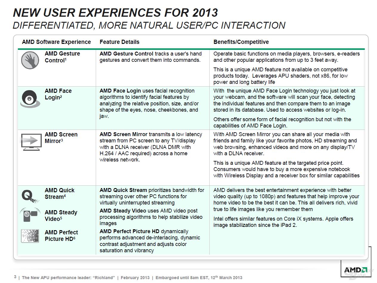 """AMD-Präsentation zu """"Richland"""" für Notebooks"""