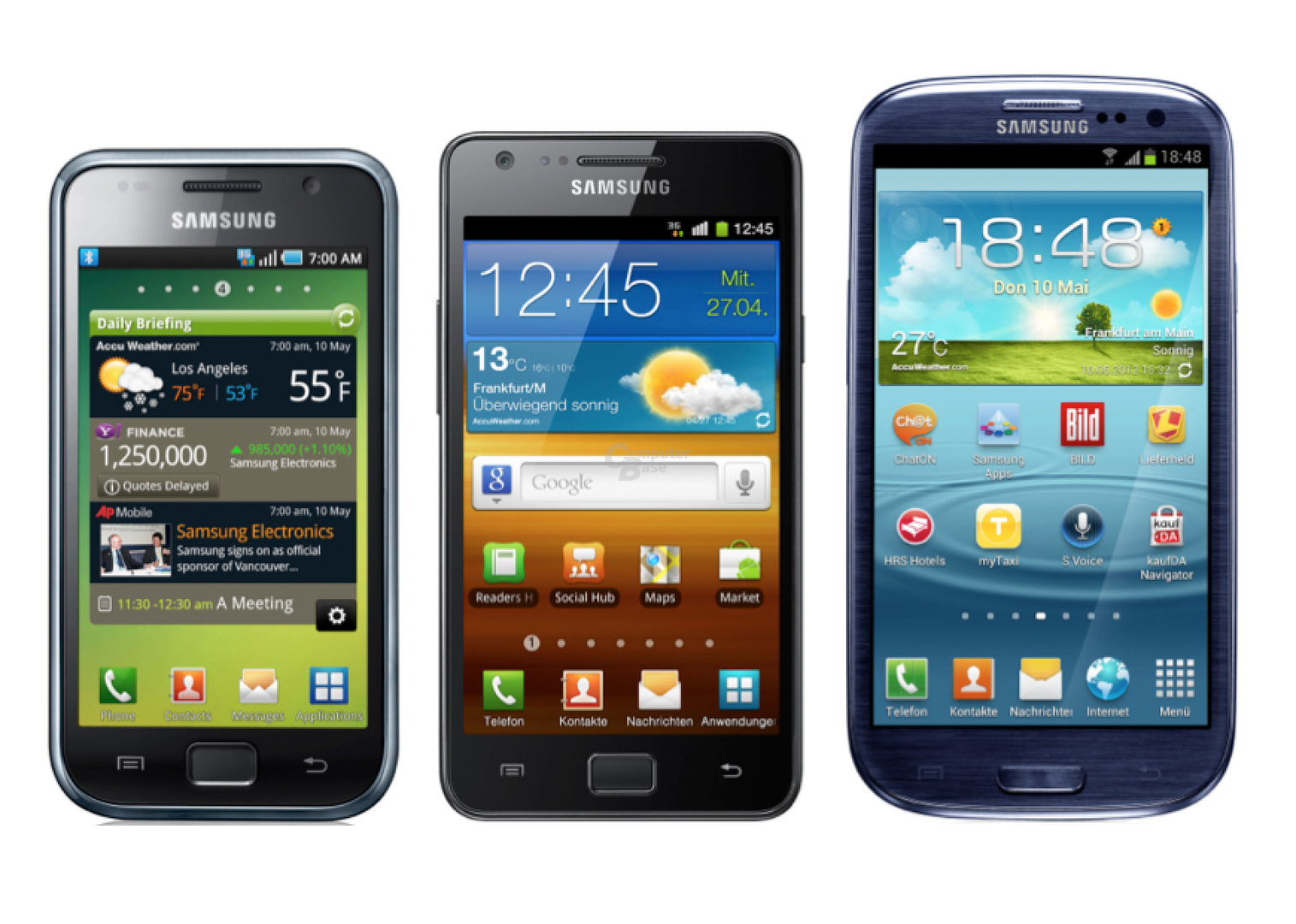Samsung Galaxy S I bis III