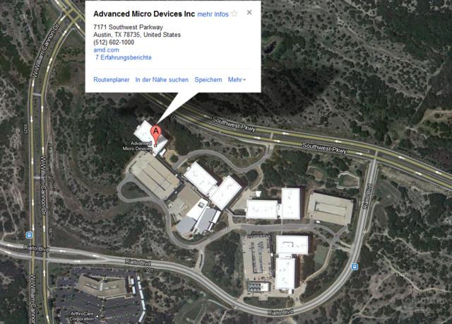 AMDs Geschäftsstelle in Austin, Texas