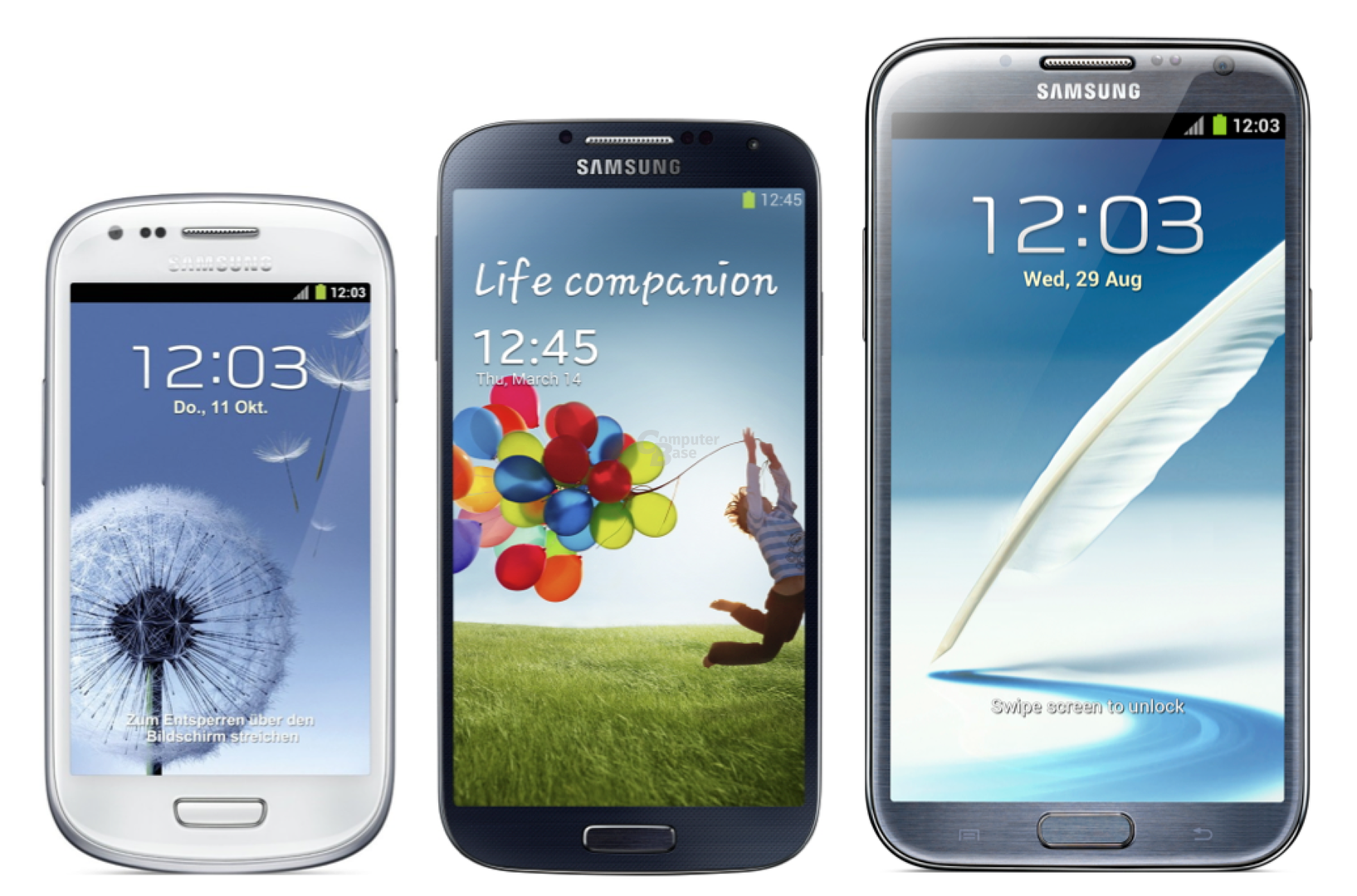 Samsung Galaxy S III mini vs. Galaxy S4 vs. Galaxy Note II