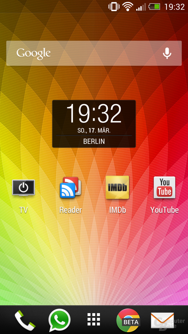HTC One Homescreen