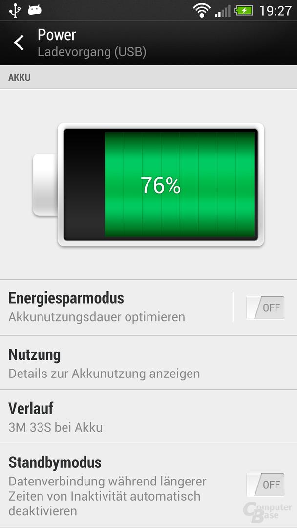HTC One Akkuverbrauch
