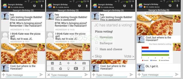 Google Babble Screenshot/Mockup