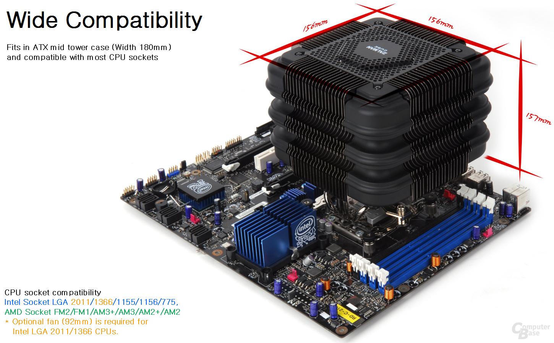 Zalman FX100: Kompatibilität