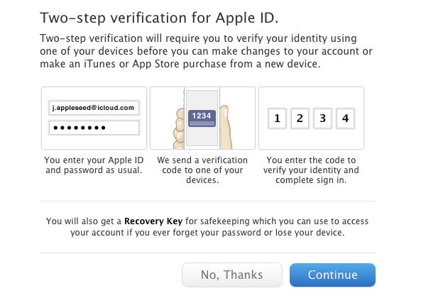 Apples neue Zwei-Wege-Authentifizierung